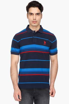 bffb1c3317da X U.S. POLO ASSN. Mens Stripe Polo T-Shirt. U.S. POLO ASSN. Mens Stripe ...