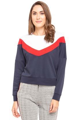 ONLYWomens Round Neck Colour Block Sweatshirt