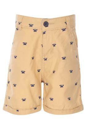 Boys 4 Pocket Printed Shorts