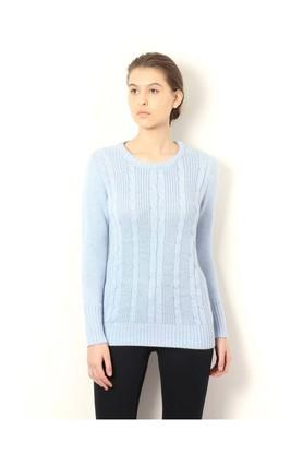 VAN HEUSENWomens Round Neck Slub Sweater - 203557541_9303