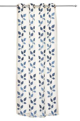 Embroidered Sheer 2 in 1 Door Curtain