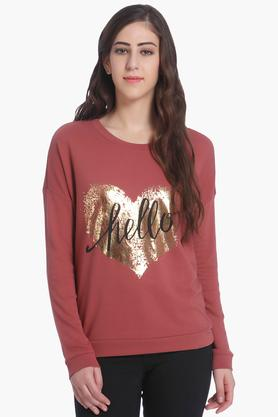 ONLY Womens Round Neck Printed Sweatshirt - 202995129