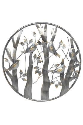MALHAR Chirp And Birds Metallic Wall Decor