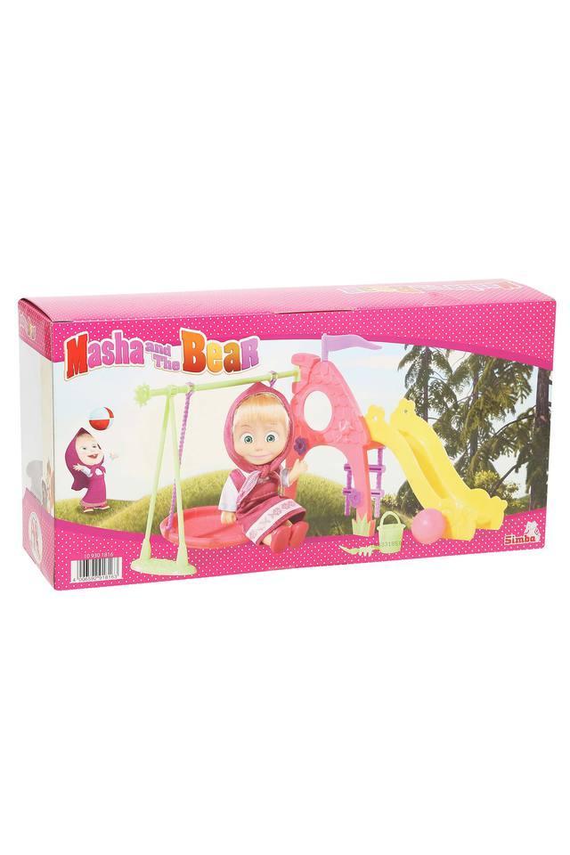 Unisex Masha and The Bear Playground Toy Set
