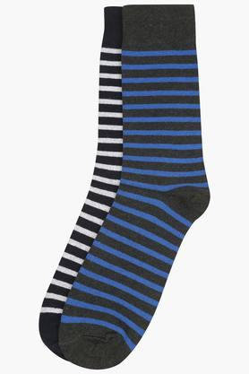 STOP Mens Stripe Socks Pack Of 2 - 7642374_9417