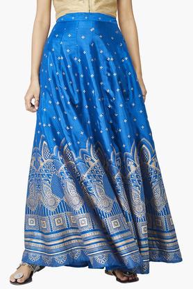 GLOBAL DESIWomens Printed Flared Skirts