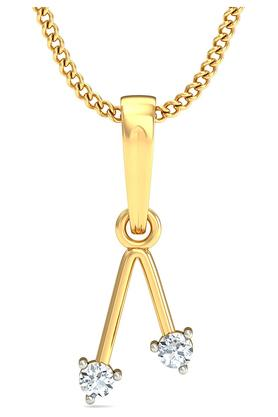 P.N.GADGIL JEWELLERS Womens Dropping V Pendant DJPD-96