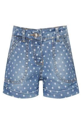 Girls 4 Pocket Printed Shorts