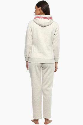 Womens Hooded Slub Sweatshirt and Pyjama Set