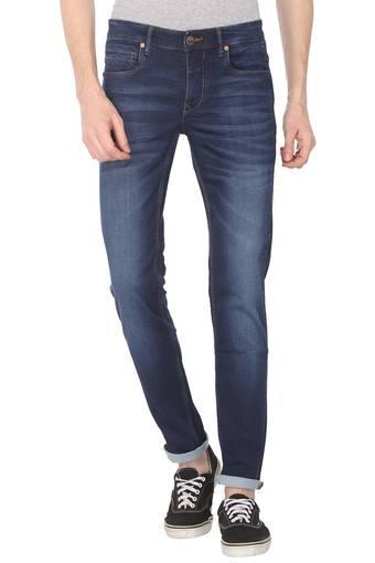 Mens Matt Fit Whiskered Effect Jeans