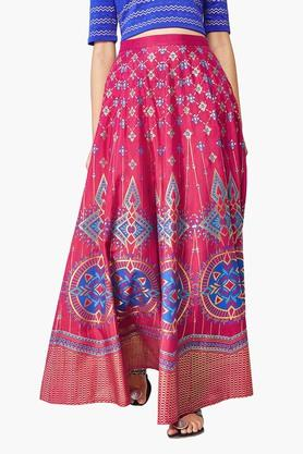 GLOBAL DESI Womens Printed Long Skirts
