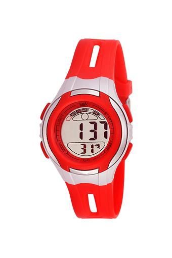Unisex Rubber Grey Dial Digital Watch - KK202RD01