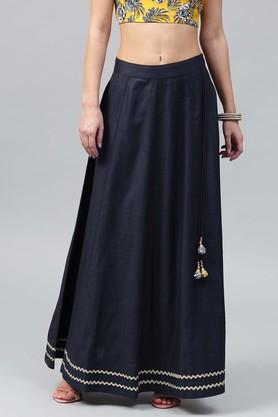 SASSAFRAS Womens Solid Long Skirt - 204059013_9324