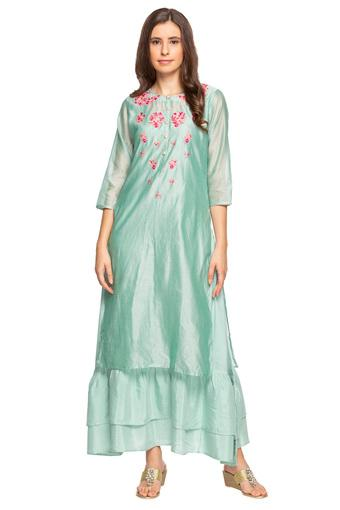 KASHISH -  Green Salwar & Churidar Suits - Main