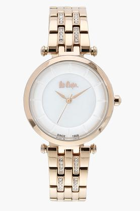 Womens Analogue White Dial Metallic Watch - LC06589430