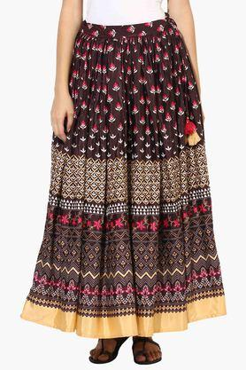 JUNIPER Womens Printed Flared Skirt - 203363047_9126