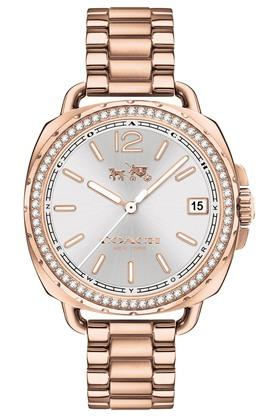 COACH Womens Analogue Rose Gold Plated Stainless Steel Watch - 14502644