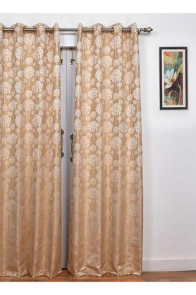 Polyester Beluga Floral Door Curtain