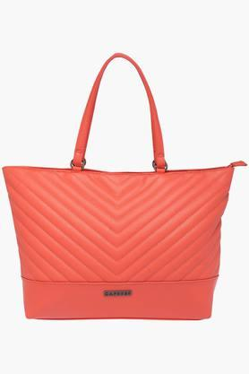 CAPRESEWomens Casual Wear Zipper Closure Tote Handbag - 202873502