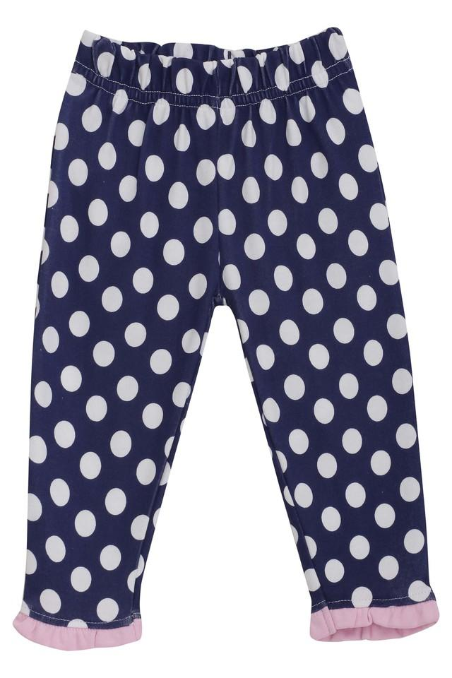 Kids Solid and Printed Woven Leggings - Pack Of 2