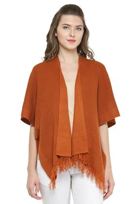 GIPSY Womens Open Neck Knitted Shrug