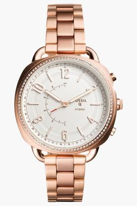 FOSSILWomens Q Accomplice Rose Gold-Tone Stainless Steel Hybrid Smart Watch - FTW1208