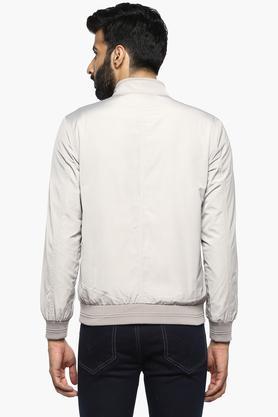 Mens Band Neck Solid Jacket