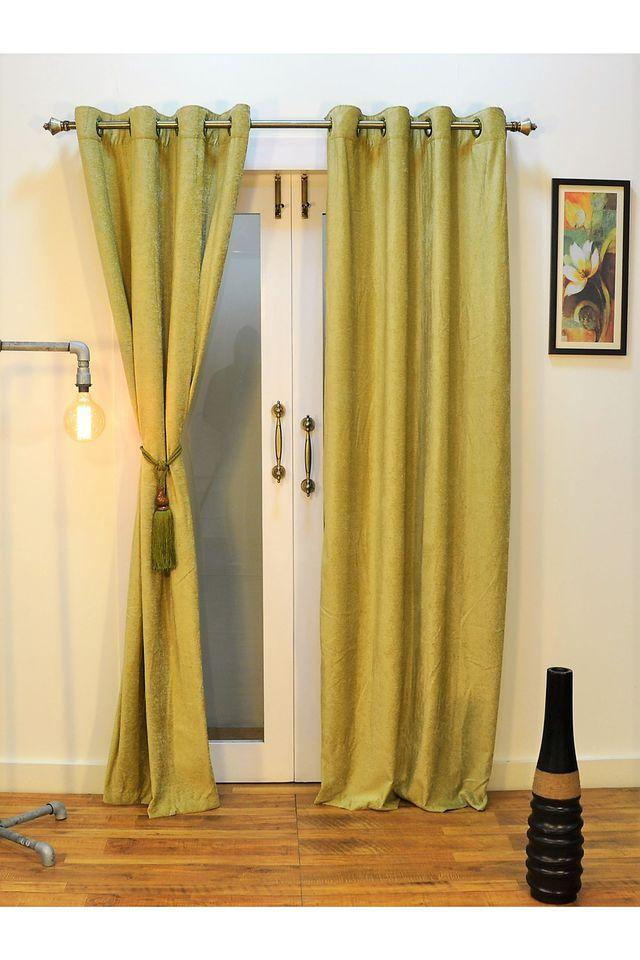 ARIANA - Pistachio Door Curtains - Main