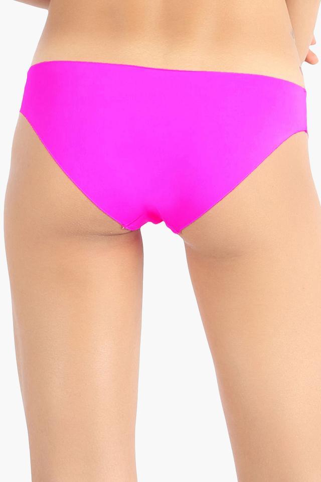 Womens Solid Seamless Bikini Briefs