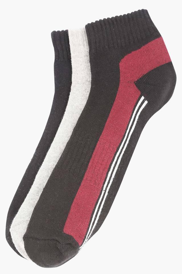 Mens Solid and Slub Socks Pack of 3