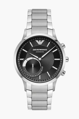 Mens Ea Connected Black Dial Stainless Steel Hybrid Smart Watch - ART3000