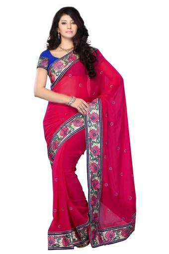Womens Georgette Designer Saree