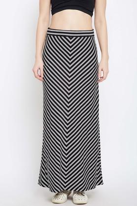 LATIN QUARTERS Womens Striped Long Skirt