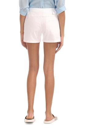 Womens Single Pocket Solid Shorts