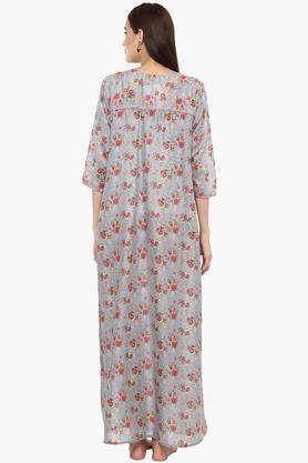 Womens Square Neck Printed Night Dress