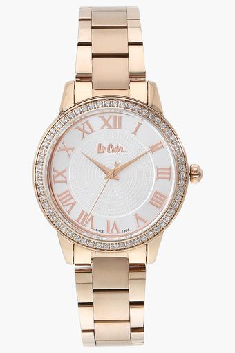 Womens Analogue Off White Dial Metallic Watch - LC06579430