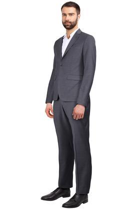 Mens Notched Lapel Slub 2 Piece Suit