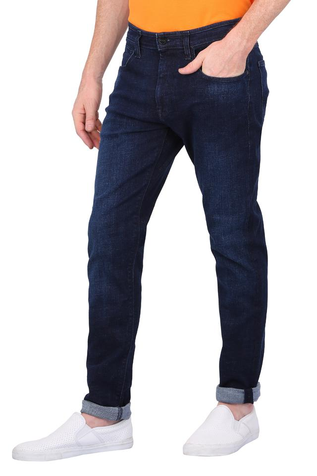 Mens 5 Pocket Mild Wash Jeans (Anton Fit)