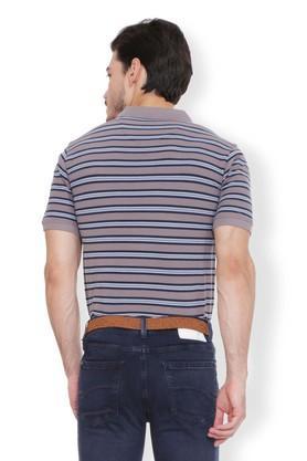 Mens Regular Fit Stripe Polo T-Shirt