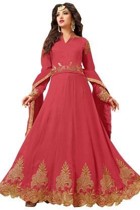 DEMARCAWomens Georgette Dress Material