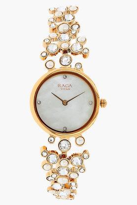TITANWomens Mother Of Pearl Dial Brass Watch - NJ95032WM01J