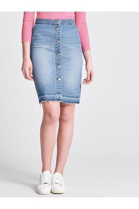 ONLY Womens Heavy Wash Skirt