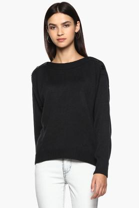 PEPE Womens Boat Neck Knitted Sweater