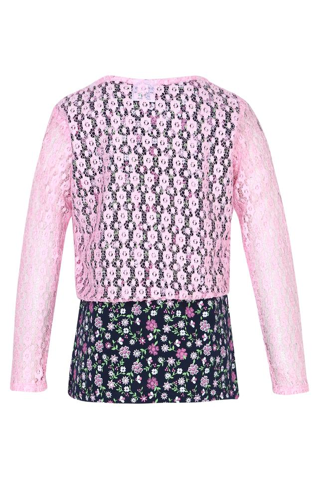 Girls Round Lace Top