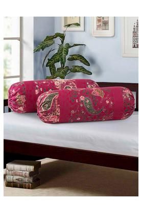 Floral Printed Bolster Cover Set Of 2