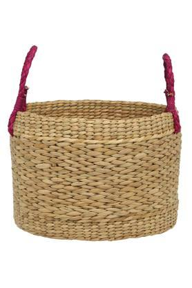 Round Woven Basket with Handle