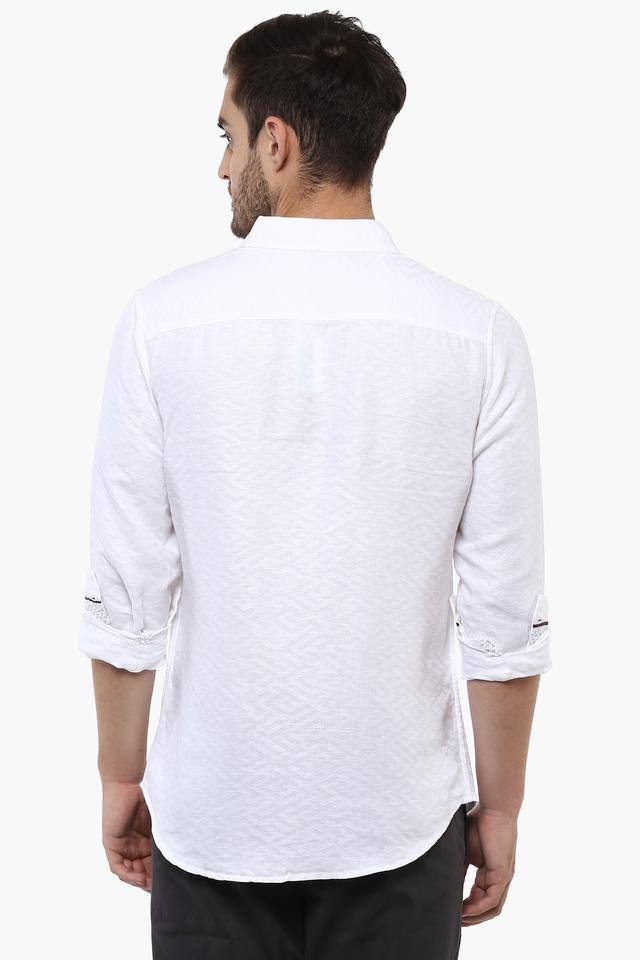 Mens Self Pattern Casual Shirt