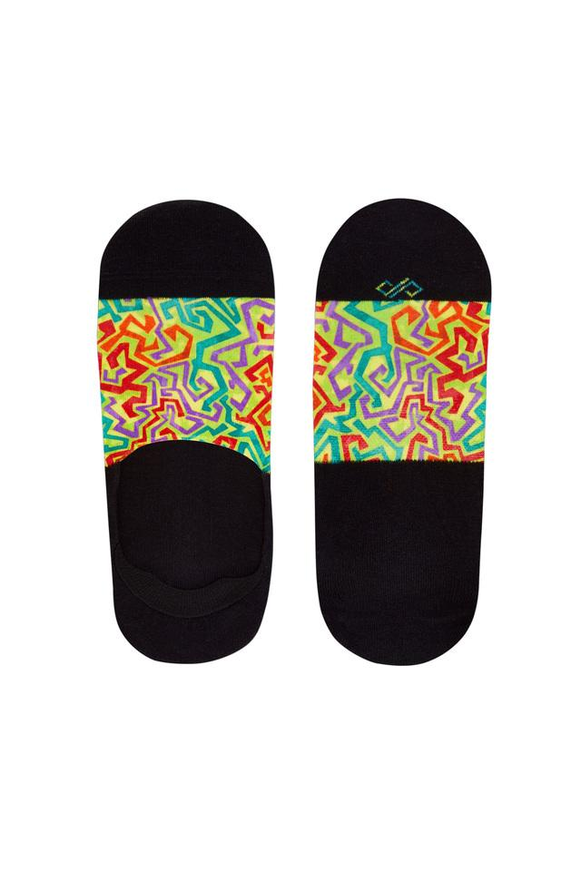 Unisex Printed No Show Socks - Pack of 3