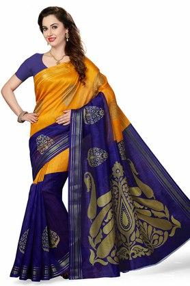 ISHIN Womens Printed Bhagalpuri Art Silk Saree - 204036358_8025