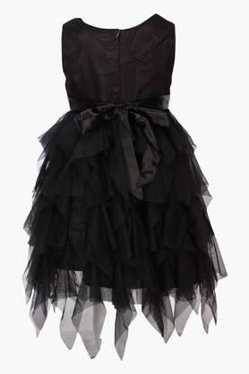 Girls Round Neck Assorted Asymmetrical Dress